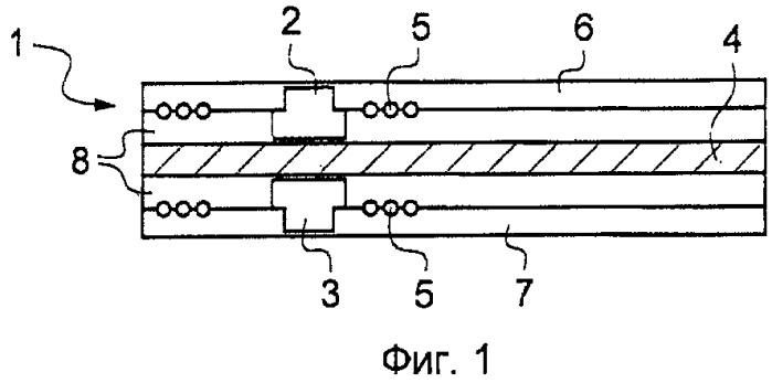 Элемент, содержащий по меньшей мере два микроэлектронных устройства бесконтактного обмена данными