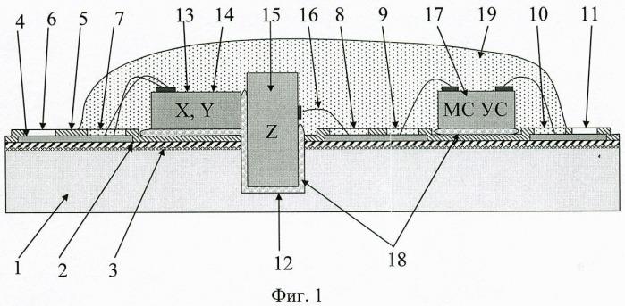 Способ изготовления микросистемы контроля трех компонент вектора магнитной индукции