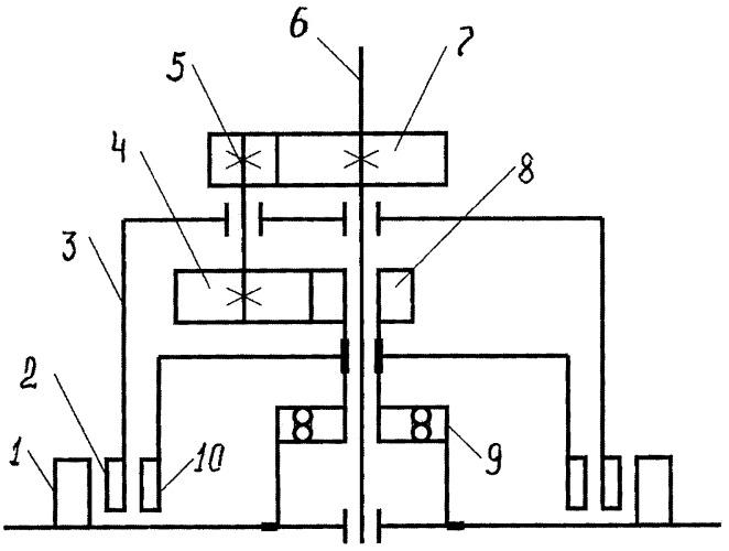 Двухроторный электродвигатель с управляемыми оборотами вала