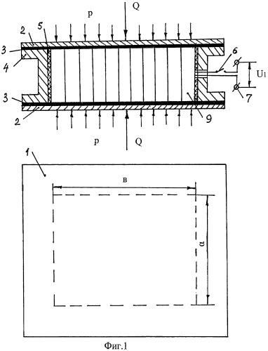 Устройство для получения электрической энергии путем деформирования пьезоэлектрического материала под действием внешнего гидростатического давления
