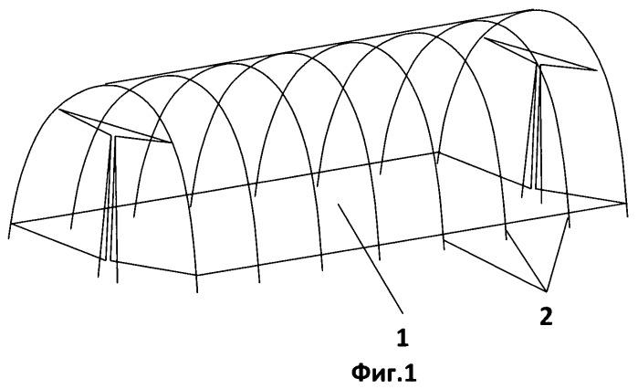 Способ изготовления бескаркасной теплицы из сотового поликарбоната