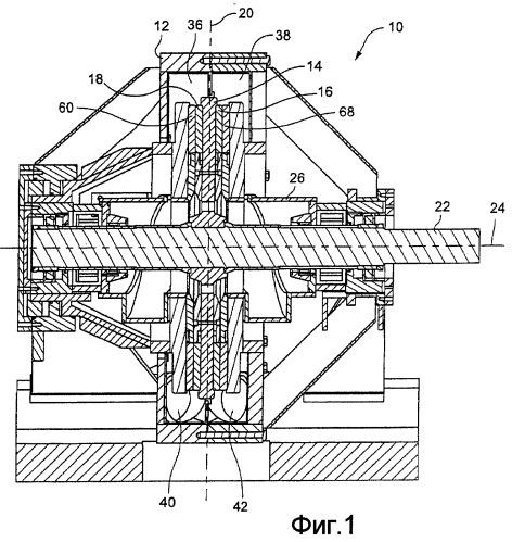 Рафинер с спиральным входом и двойным тангенциальным выходом