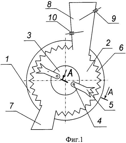 Устройство для регулирования степени измельчения материалов в безрешетной молотковой дробилке кормов