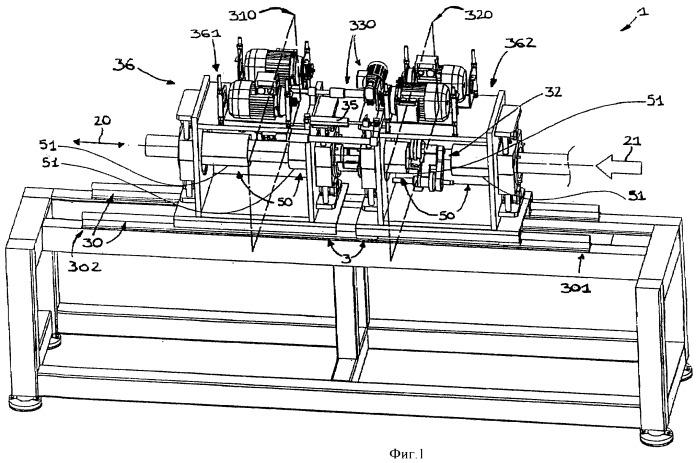 Машина и способ для резки непрерывно экструдируемых труб на отрезки заданной длины