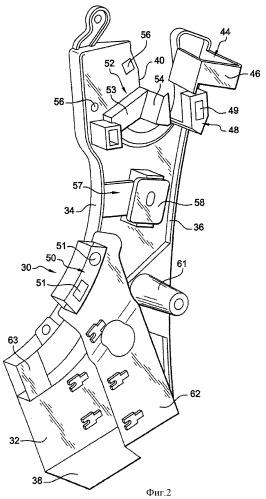 Держатель для одного или нескольких элементов, предназначенных для крепления на конструкции автомобиля