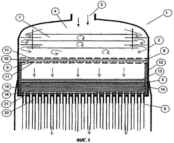 Реактор для получения циановодорода способом андруссова