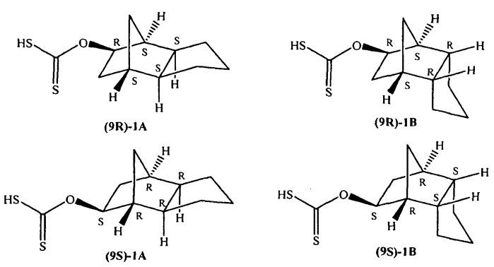 Стереоизомеры трициклодекан-9-илксантогената
