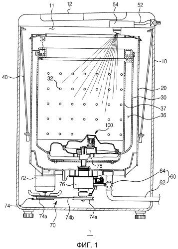 Устройство пульсатора, используемое со стиральной машиной, и стиральная машина, содержащая его