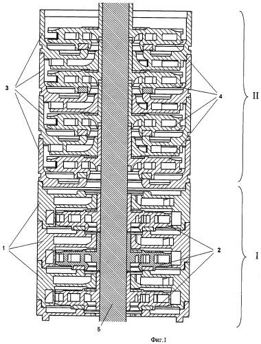 Многоступенчатый лопастной насос для работы на газожидкостной смеси с повышенным газосодержанием (варианты)