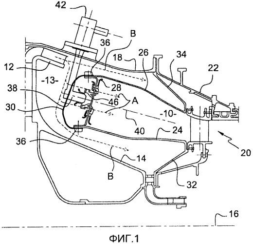 Газотурбинный двигатель с кольцевой камерой сгорания
