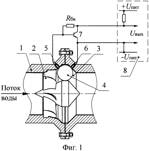 Шариковый первичный преобразователь расхода электропроводной жидкости