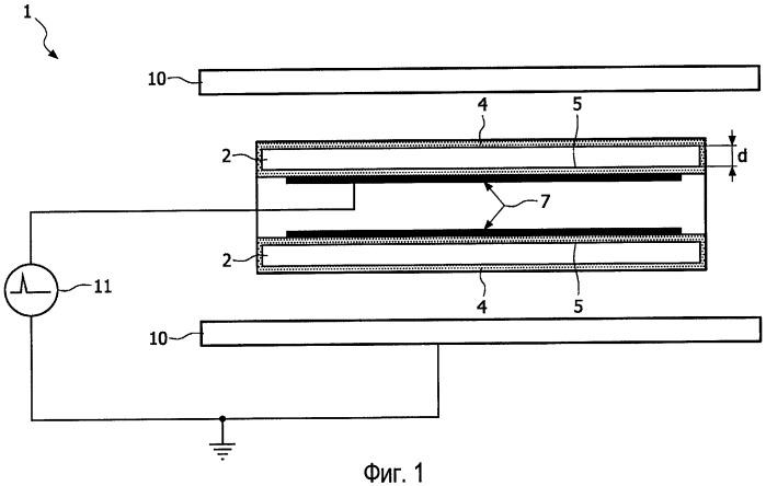 Газоразрядная лампа с диэлектрическим барьером