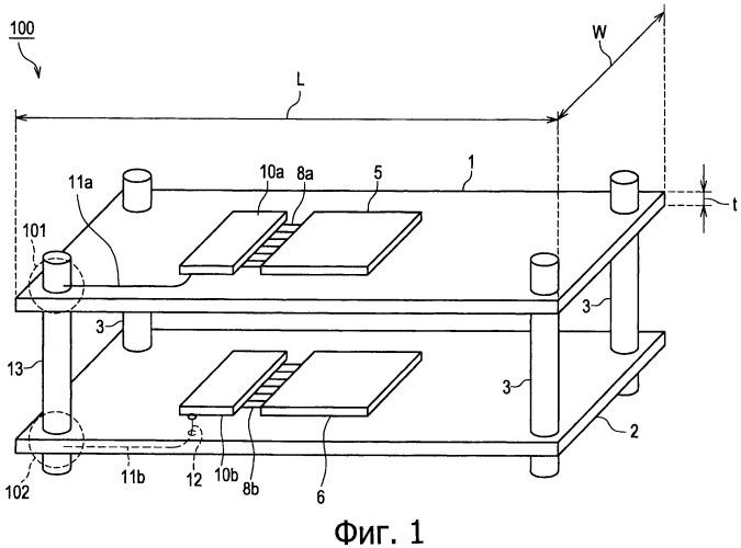 Устройство диэлектрической передачи миллиметровых волн и способ его изготовления и способ и устройство беспроводной передачи