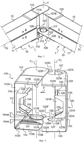 Угловое приспособление с поворотными щитками, предназначенное для коробов