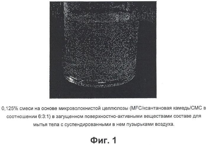 Загущенная система поверхностно-активных веществ, содержащая микроволокнистую целлюлозу, и способ ее получения