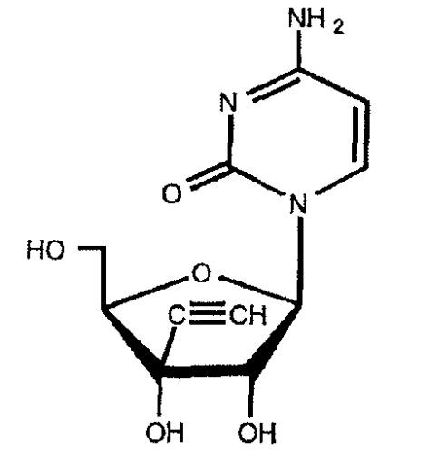 Противоопухолевое средство для непрерывного внутривенного введения, содержащее цитидиновое производное