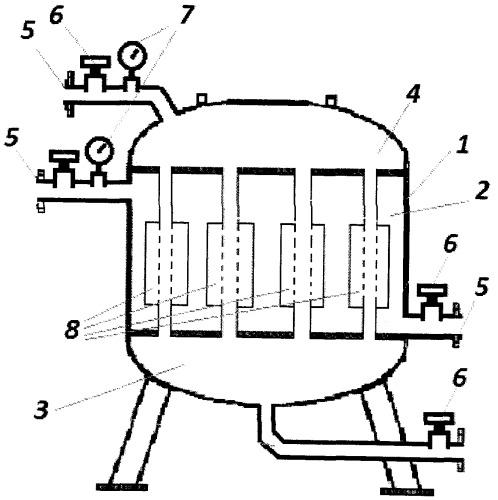 Установка для очистки нефтепродуктов, воздуха и инертных газов от воды, механических и биологических примесей