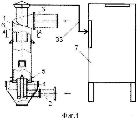 Двухступенчатая вихревая пылеулавливающая система кочетова
