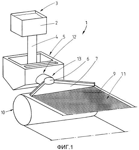 Литейная установка с устройством подачи на литейную ленту