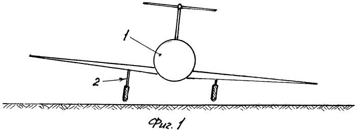 Шасси для посадки при боковом ветре (варианты)