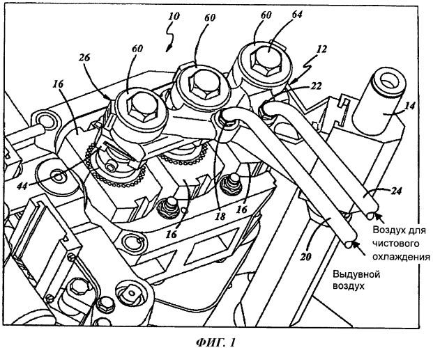 Монтажное устройство для кронштейна дутьевой головки стеклоформующей машины