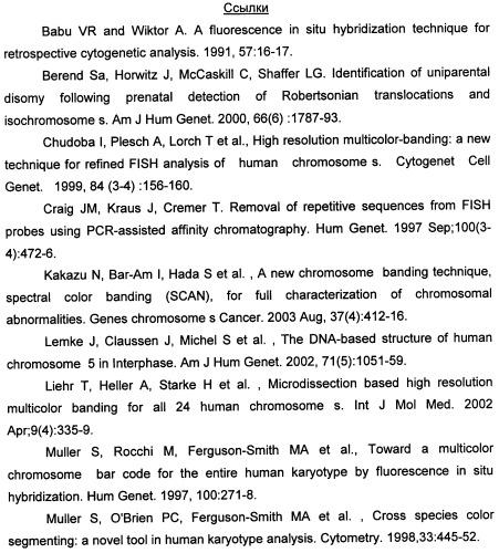 Способ и устройство для определения строения хромосом