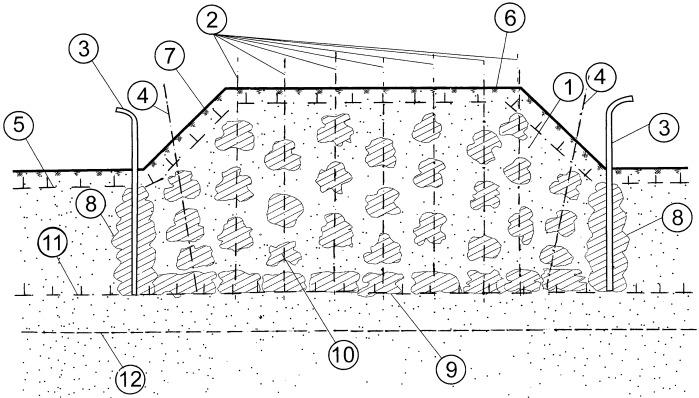 Способ ликвидации пучин в земляном полотне эксплуатируемых автомобильных и железных дорог на сезоннопромерзающих грунтах