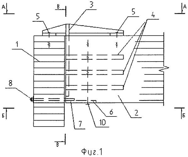 Торцевое нагельное соединение деревянных балочных конструкций