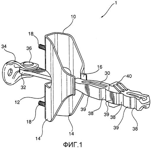 Стопорное устройство с накапливающим энергию корпусом для двери автомобиля