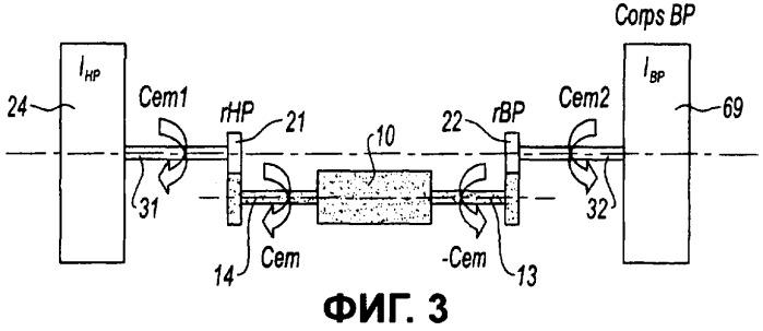 Устройство производства электрической энергии в двухвальном газотурбинном двигателе