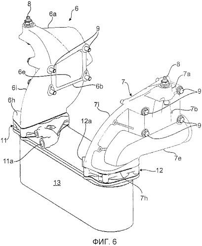 Система воздуховода наддувочного воздуха на двигателе внутреннего сгорания