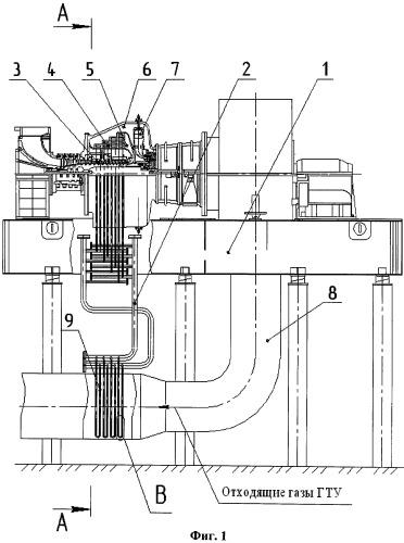 Регенератор, встроенный в газотурбинную установку