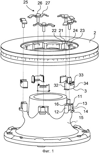 Соединительное устройство для соединения тормозного диска и ступицы и способ установки