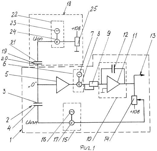 Емкостной датчик для измерения линейных перемещений