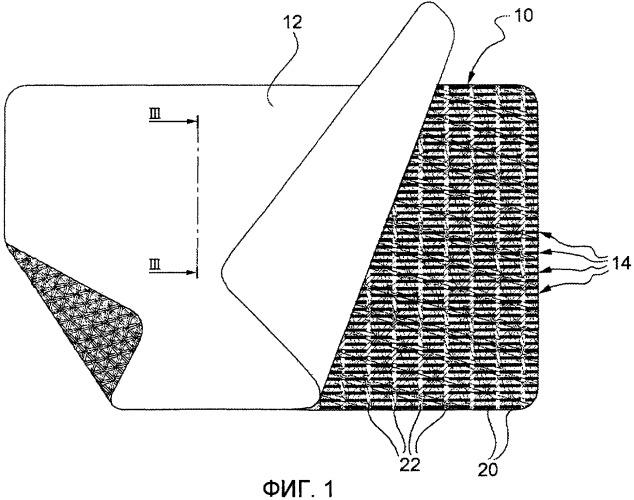Двухслойный хирургический протез для замещения мягких тканей