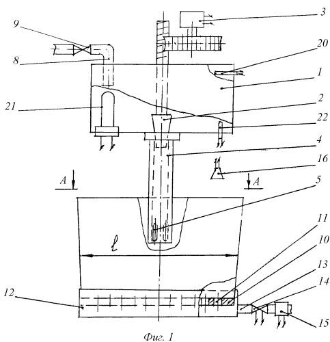 Устройство для моделирования гидродинамики расплава в кристаллизаторе