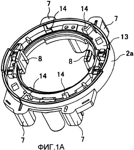 Устройство переключения вращения по часовой стрелке и против часовой стрелки для электроинструмента