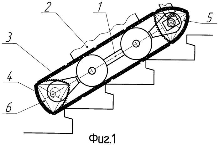 Гусеничный движитель транспортного средства для преодоления эскарпа, контрэскарпа и лестничных маршей