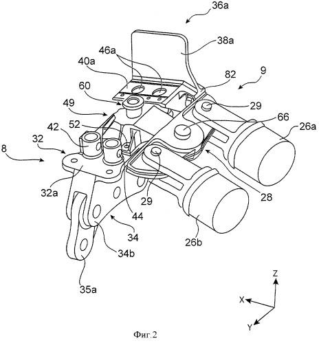 Устройство для крепления авиационного двигателя, содержащее компактное устройство для восприятия силы тяги