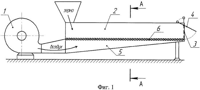 Аэродинамический транспортер для зерна