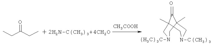 1,5-бис[(трет-бутиламино)метил]-n,n'-ди-трет-бутилбиспидин-9-она и способ его получения