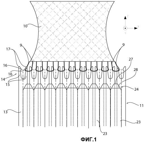 Гребенка натяжения для плосковязальной прямоугольной машины