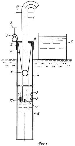 Водозаборный трубчатый колодец и устройство для его сооружения