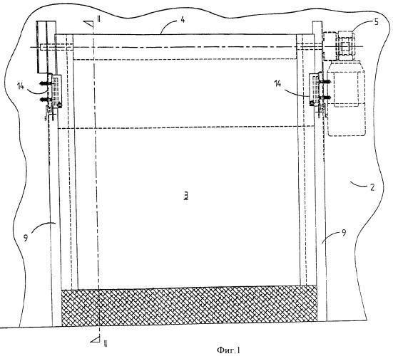 Устройство со шторой и элементом для повторной установки шторы в направляющую