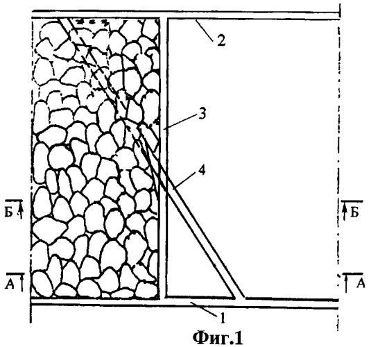 Способ перехода очистным забоем выработки, пройденной с подрывкой кровли пласта
