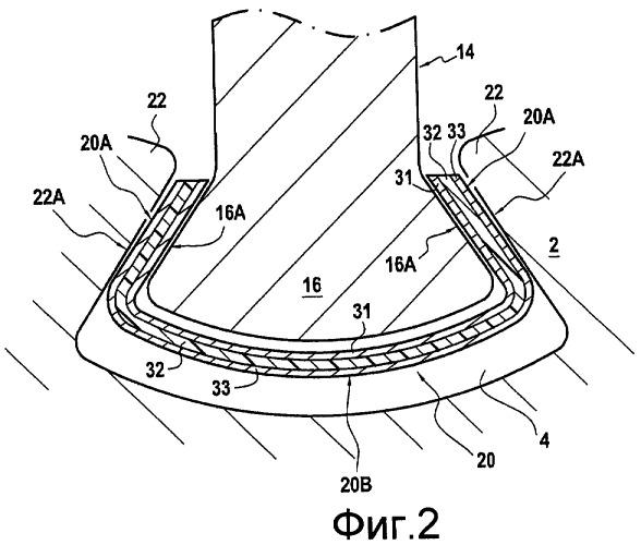 Прокладка для лопатки турбины, конструкция ротора турбины и турбина