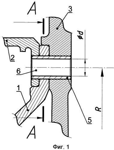 Болтовое соединение вращающихся деталей