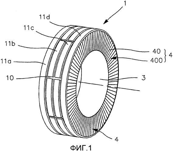 Пневматическая шина барабанного типа с несущей конструкцией
