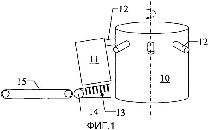 Устройство для выгрузки мешков из мешконаполнителя