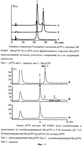 Промышленный способ получения и очистки рекомбинантного гормона роста человека из телец включения